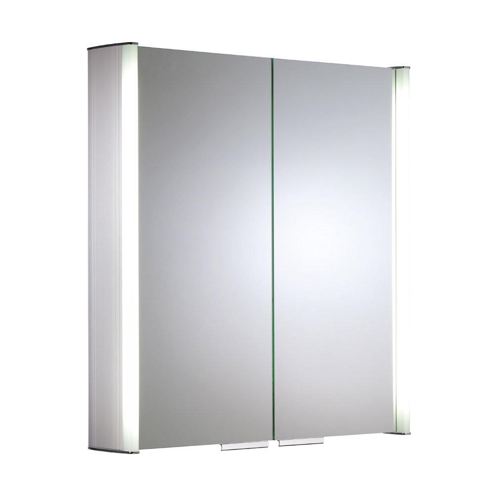 Roper Rhodes Summit Illuminated Mirror Cabinet - Aluminium - AS615ALIL Large Image