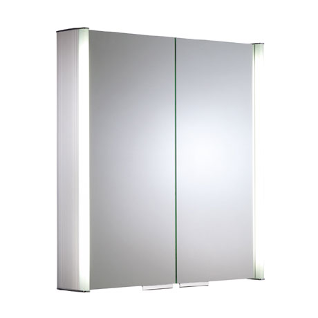 Roper Rhodes Summit Illuminated Mirror Cabinet - Aluminium - AS615ALIL