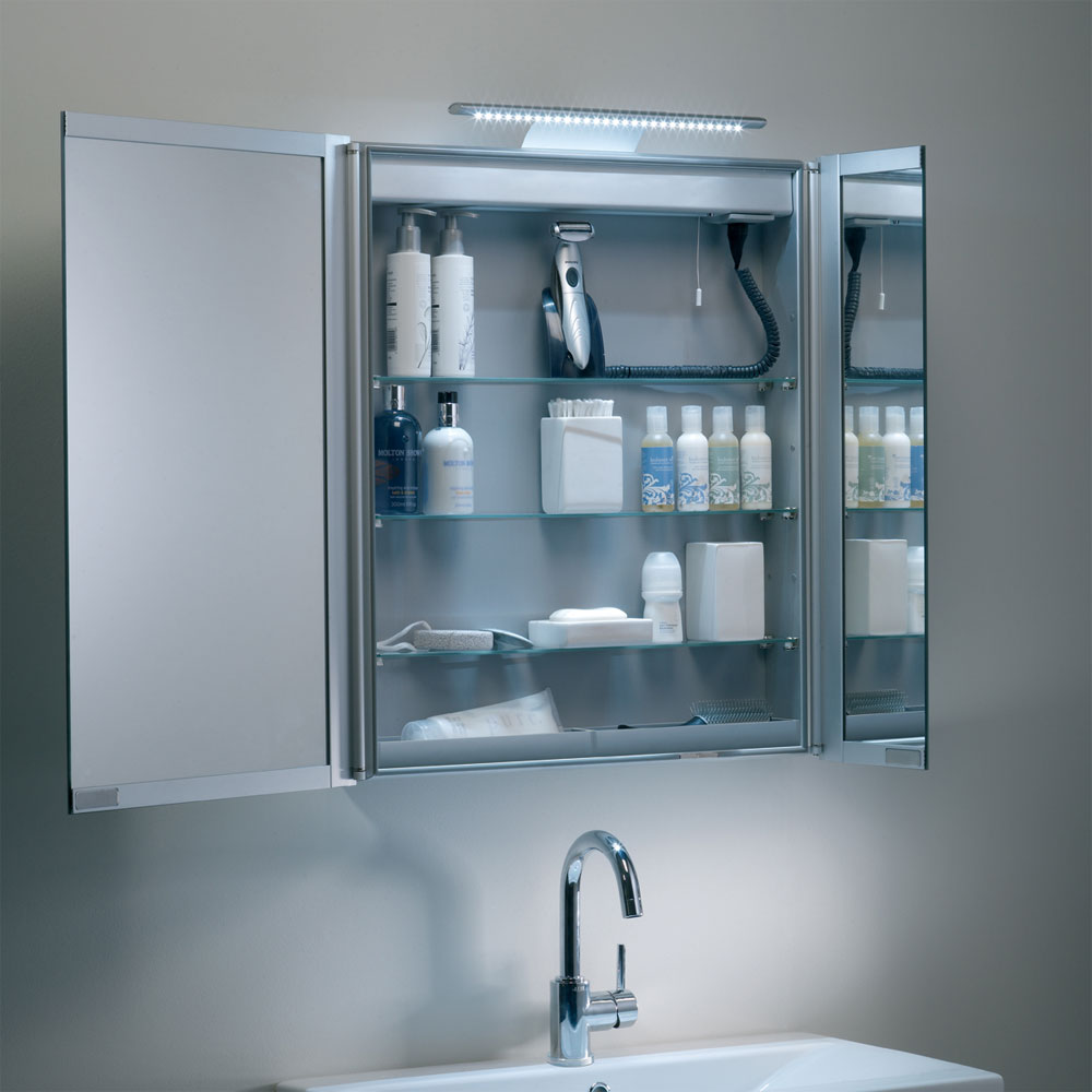 Roper Rhodes Refine Slimline Mirror Cabinet with Electrics - AS615ALSL Feature Large Image