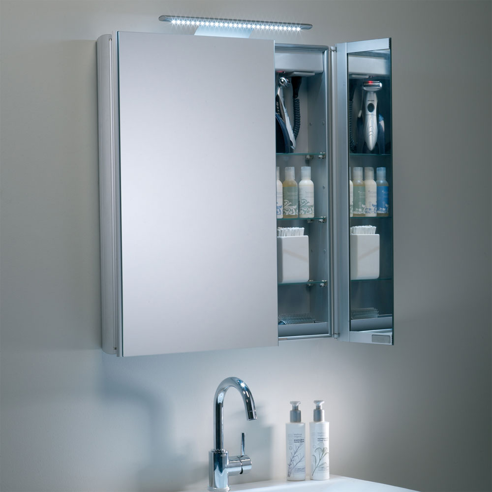 Roper Rhodes Refine Slimline Mirror Cabinet with Electrics - AS615ALSL Standard Large Image