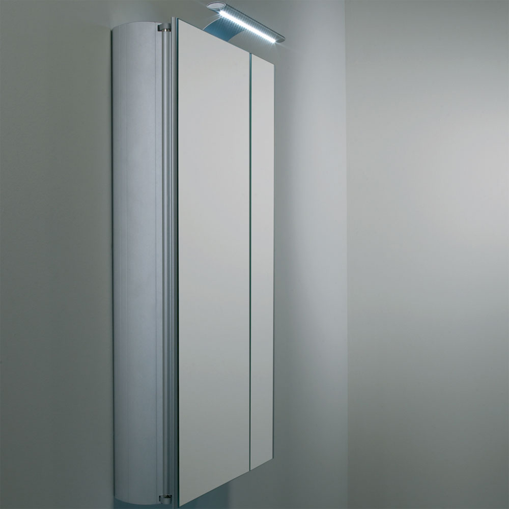 Roper Rhodes Refine Slimline Mirror Cabinet with Electrics - AS615ALSL In Bathroom Large Image