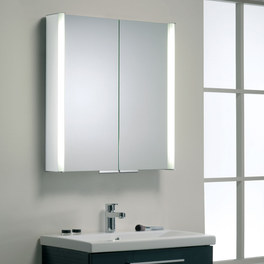 Roper Rhodes Summit Illuminated Mirror Cabinet - White - AS615WIL Newest Large Image