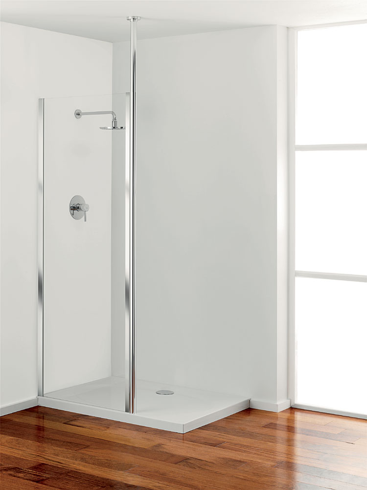 Coram - Column Glass Shower Panel - Various Size Options Large Image