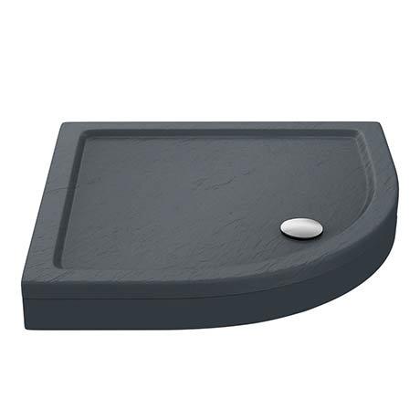 Aurora Slate Effect Stone Quadrant Shower Tray + Riser Kit