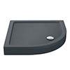 Aurora Slate Effect Stone Quadrant Shower Tray + Riser Kit profile small image view 1