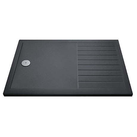 Aurora 1600 x 800 Slate Effect Walk In Shower Tray With Drying Area