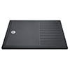 Aurora 1600 x 800 Slate Effect Walk In Shower Tray With Drying Area profile small image view 1