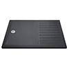 Aurora 1700 x 700 Slate Effect Walk In Shower Tray With Drying Area profile small image view 1