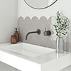 Asheville Grey Fan Wall Tiles Small Image