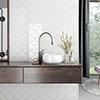 Asheville White Fan Wall Tiles 134 x 150mm Small Image