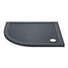 Aurora LH Slate Effect Stone Offset Quadrant Shower Tray profile small image view 1
