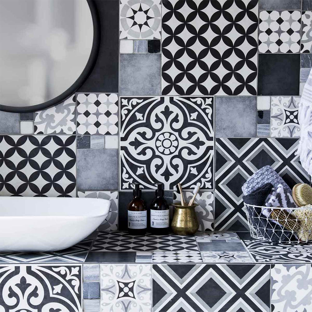Aspect Black Amp Ivory Patterned Wall And Floor Tiles 331