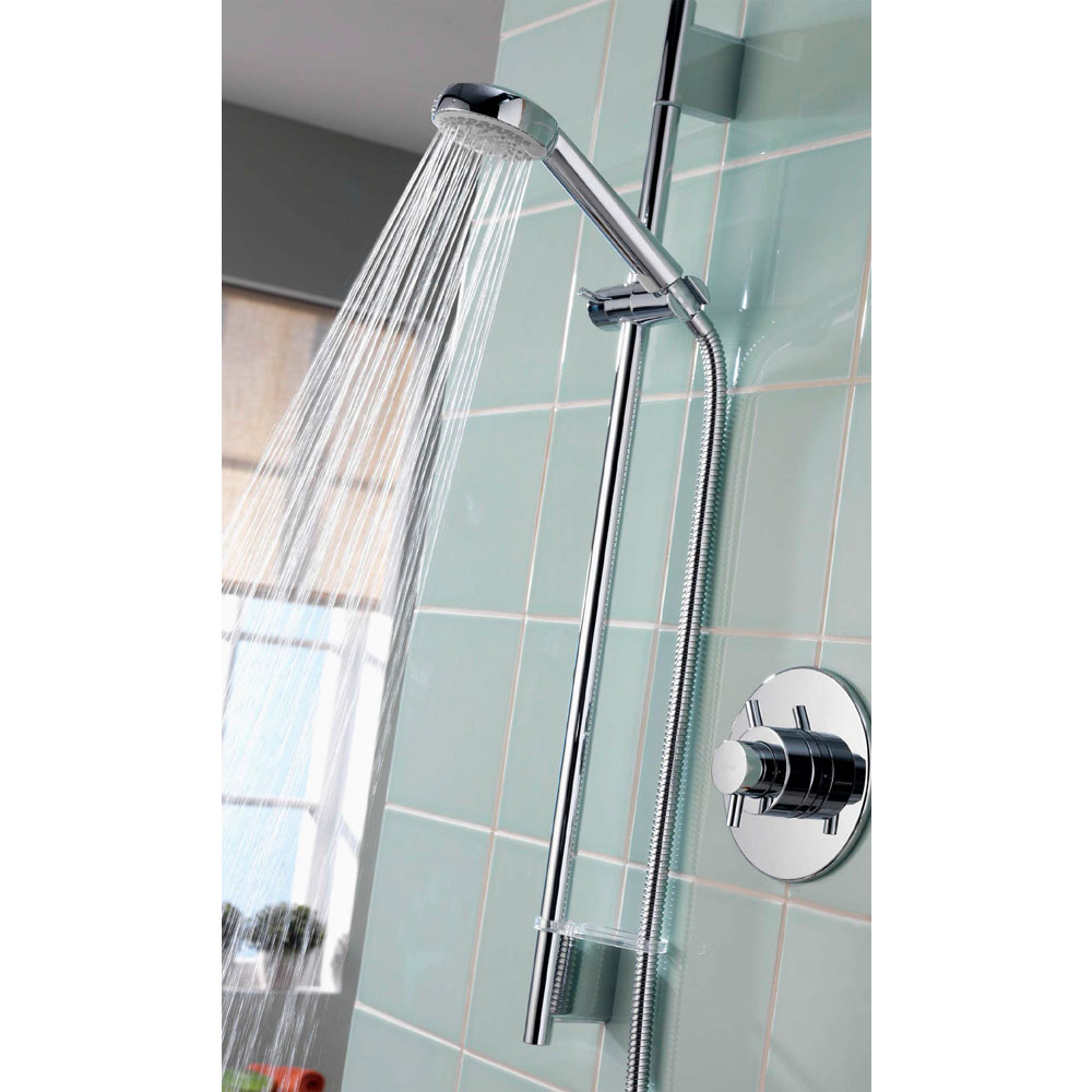 Aqualisa - Aspire DL Concealed Thermostatic Shower Valve with Slide Rail Kit - ASP001CA profile large image view 4