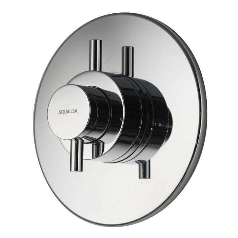 Aqualisa - Aspire DL Concealed Thermostatic Shower Valve with Wall Mounted Fixed Head - ASP001CF profile large image view 2