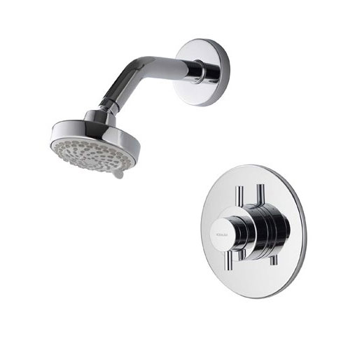 Aqualisa - Aspire DL Concealed Thermostatic Shower Valve with Wall Mounted Fixed Head - ASP001CF profile large image view 1