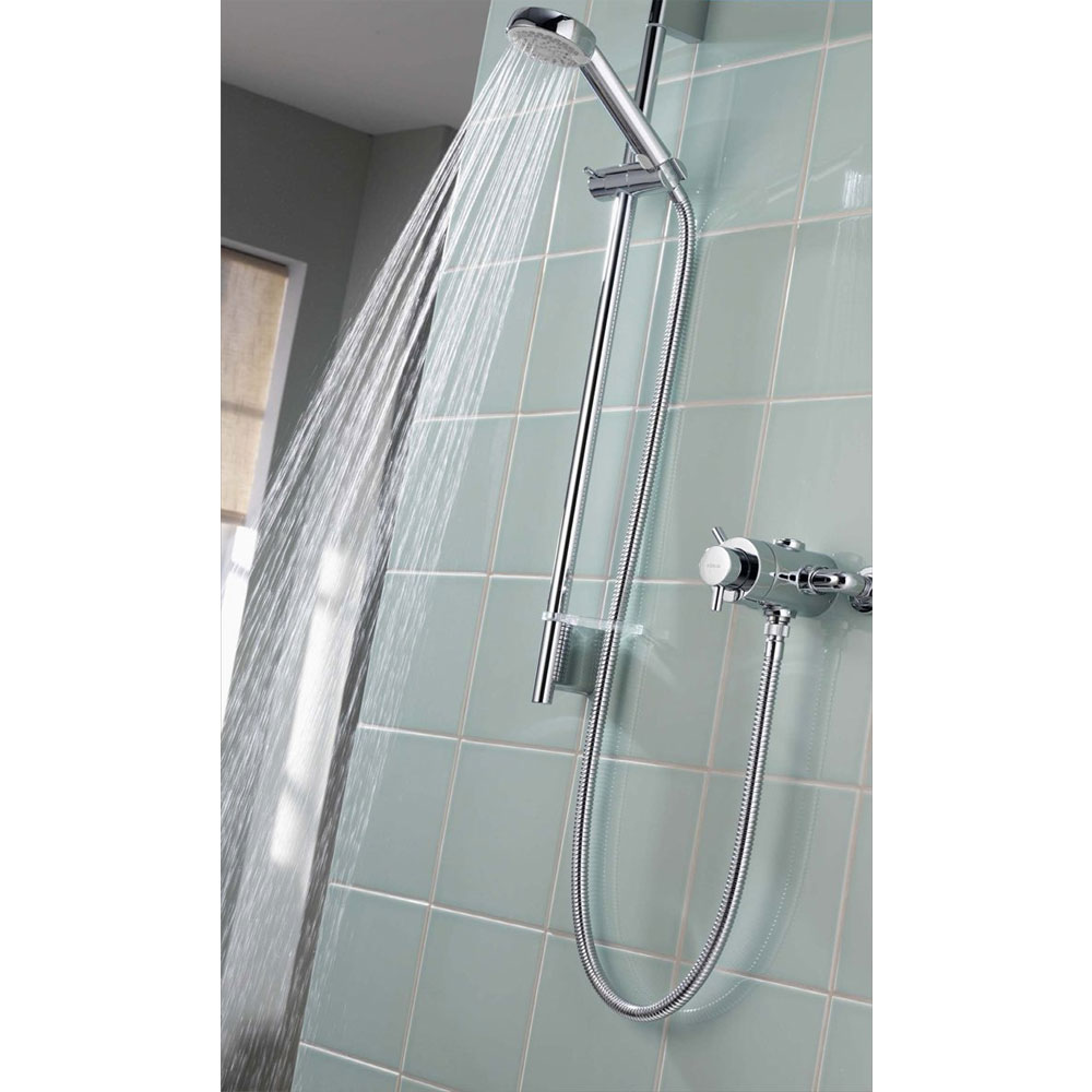 Aqualisa - Aspire DL Exposed Thermostatic Shower Valve with Slide Rail Kit - ASP001EA profile large image view 3