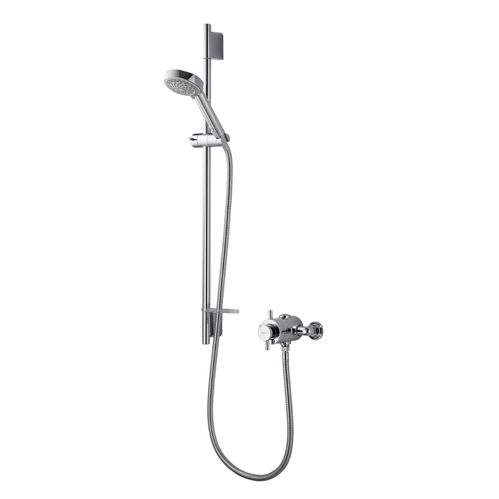 Aqualisa - Aspire DL Exposed Thermostatic Shower Valve with Slide Rail Kit - ASP001EA Large Image