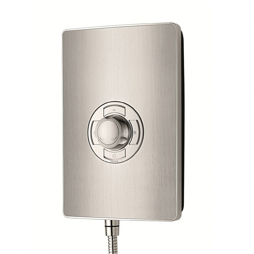 Triton - Aspirante 8.5kw Electric Shower - Brushed Steel - ASP08BRSTL profile large image view 2