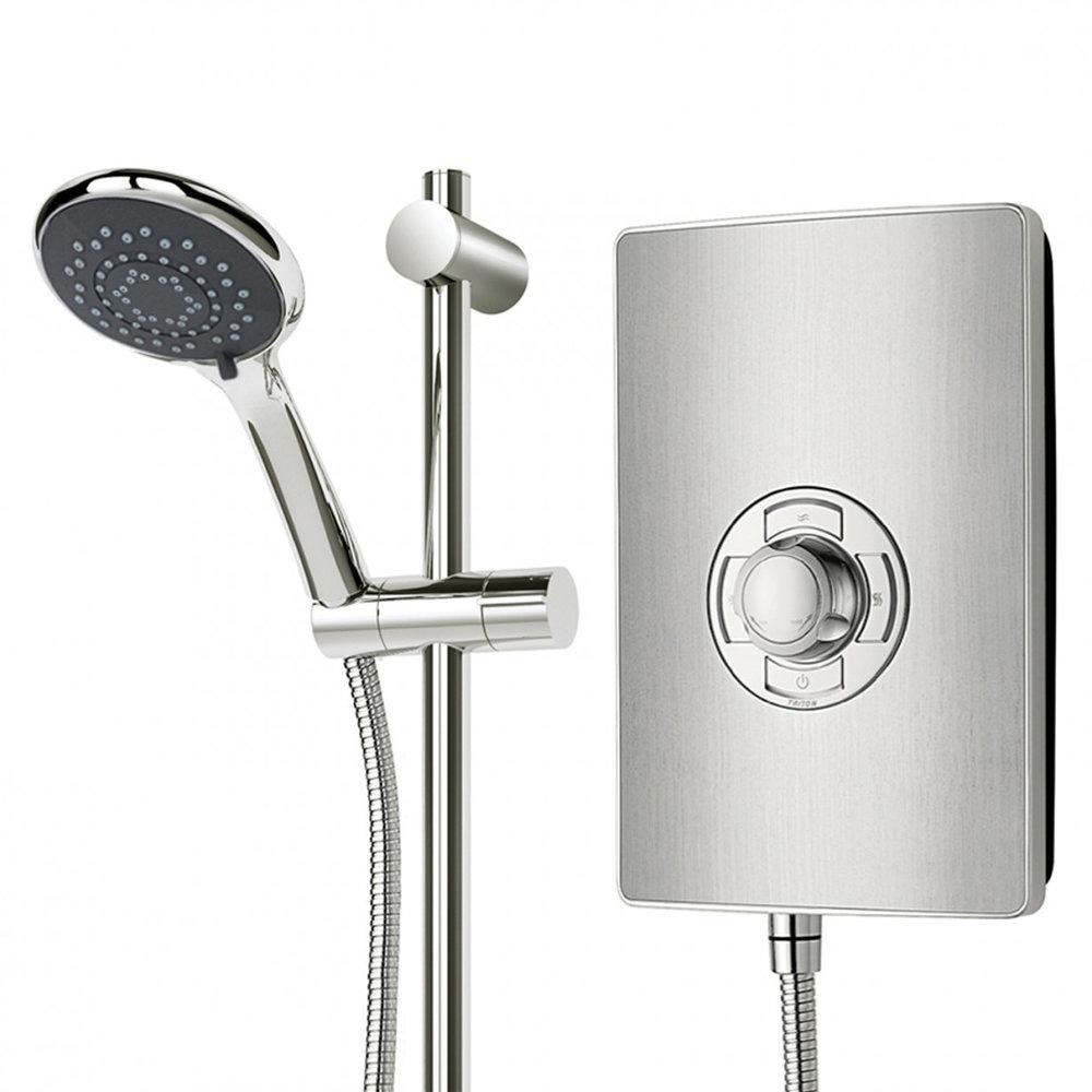 Triton - Aspirante 8.5kw Electric Shower - Brushed Steel - ASP08BRSTL profile large image view 4