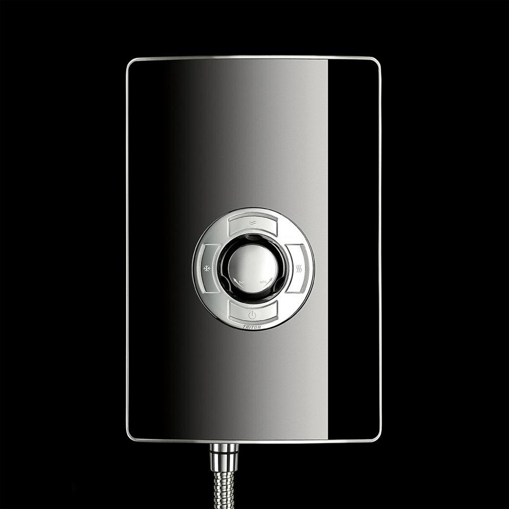 Triton - Aspirante 8.5kw Electric Shower - Black Gloss - ASP08GSBLK profile large image view 4