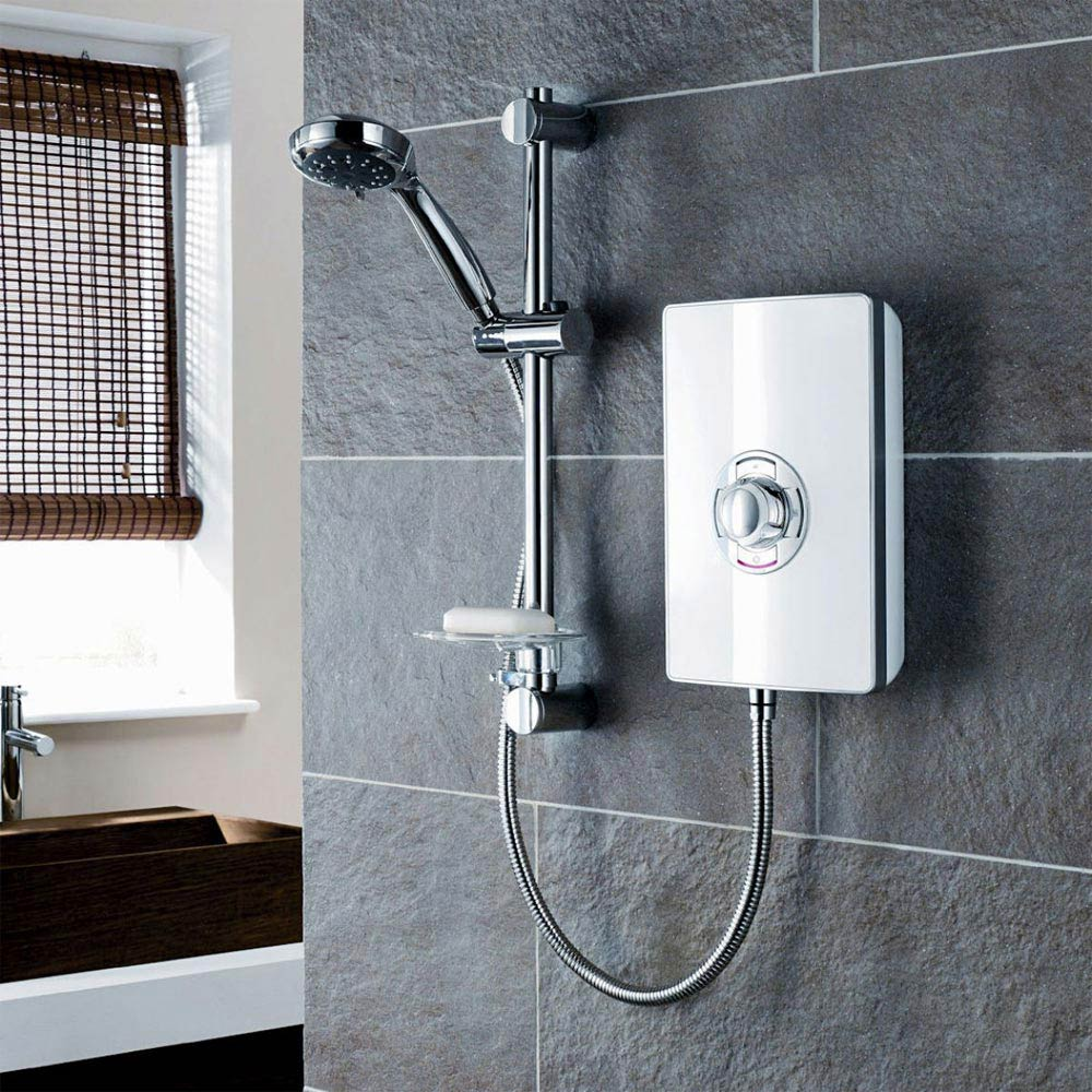 Triton - Aspirante 8.5 kw Electric Shower - White Gloss - ASP08GSWHT Profile Large Image