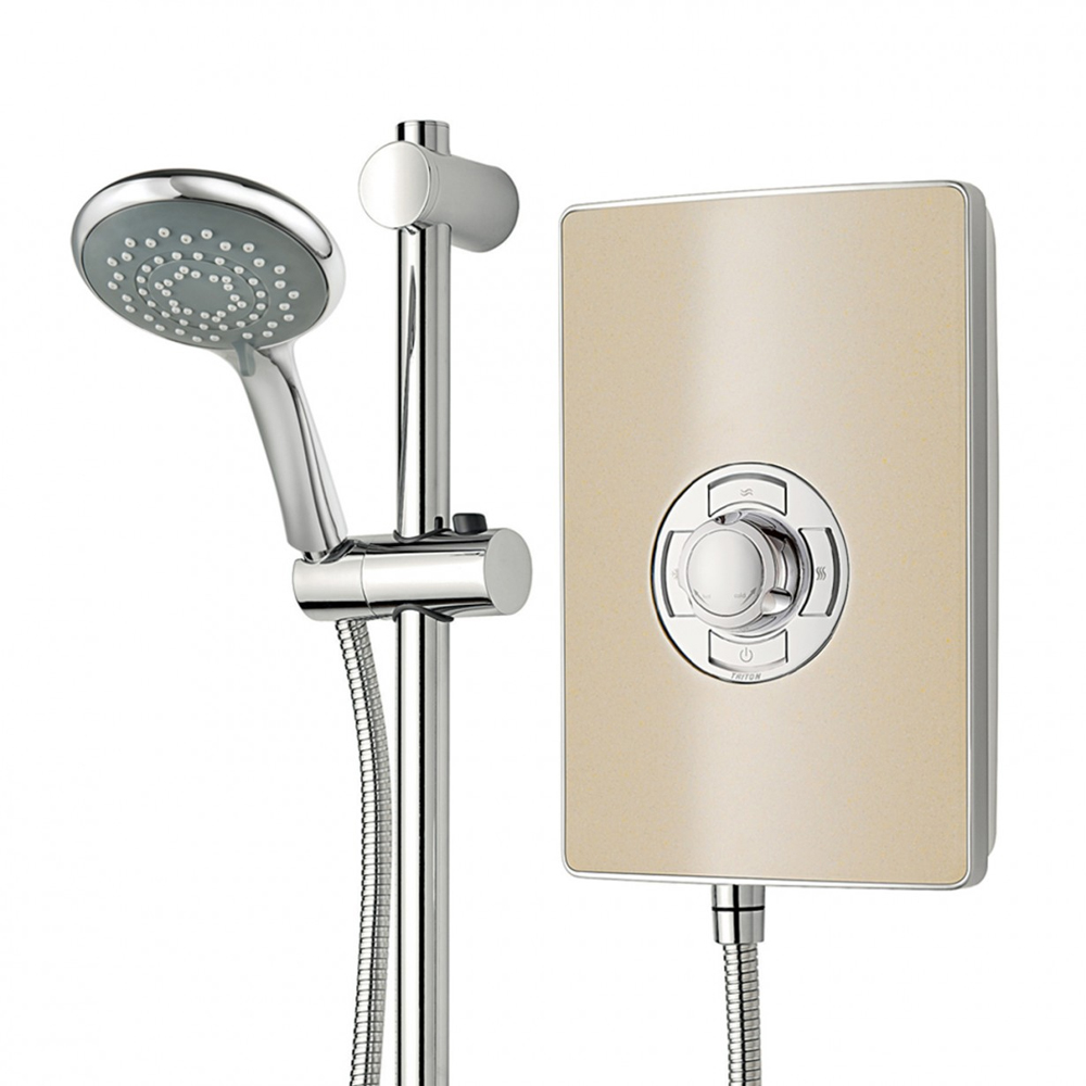 Triton - Aspirante 8.5kw Electric Shower - Riviera Sand - ASP08TLRSD profile large image view 6