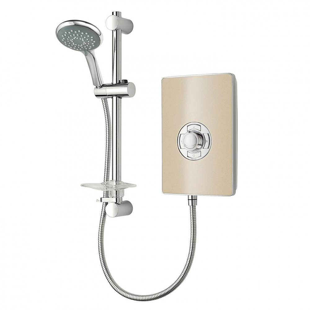 Triton - Aspirante 8.5kw Electric Shower - Riviera Sand - ASP08TLRSD profile large image view 1