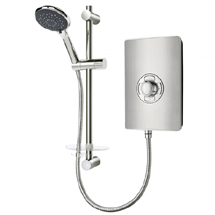 Triton - Aspirante 9.5kw Electric Shower - Brushed Steel - ASP09BRSTL Medium Image
