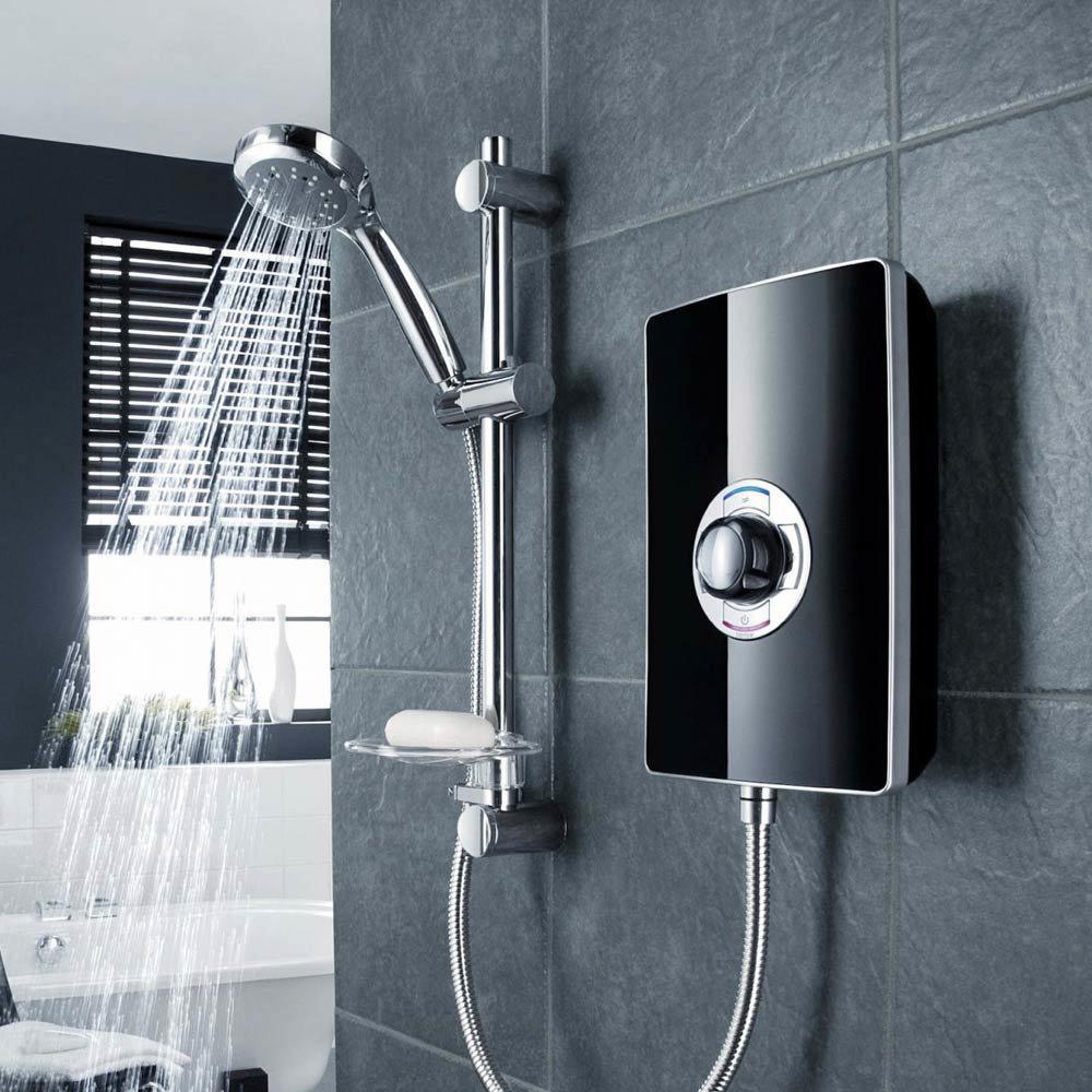 Triton - Aspirante 9.5kw Electric Shower - Black Gloss - ASP09GSBLK Profile Large Image
