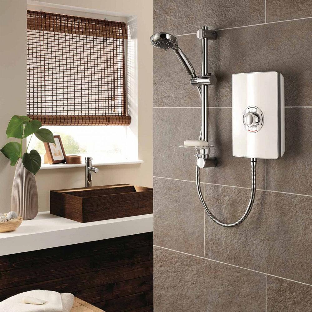 Triton - Aspirante 9.5kw Electric Shower - White Gloss - ASP09GSWHT profile large image view 3