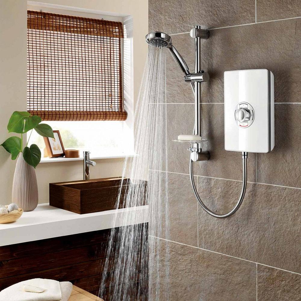 Triton - Aspirante 9.5kw Electric Shower - White Gloss - ASP09GSWHT profile large image view 4