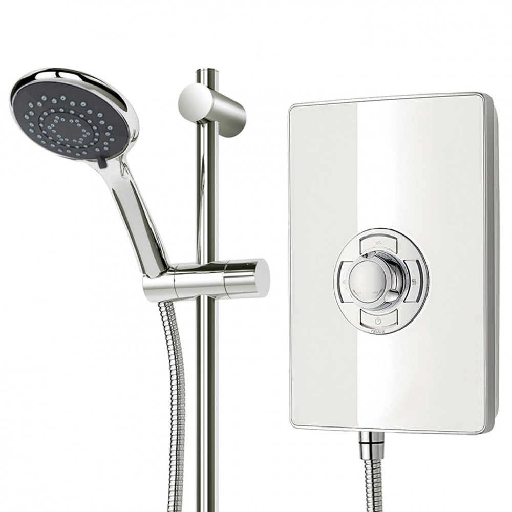 Triton - Aspirante 9.5kw Electric Shower - White Gloss - ASP09GSWHT profile large image view 6