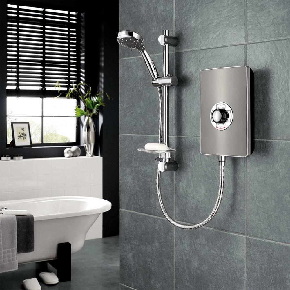 Triton - Aspirante 9.5kw Electric Shower - Gun Metal - ASP09GUNMTL profile large image view 2