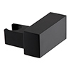 Arezzo Square Matt Black ABS Modern Wall Mounted Handset Holder profile small image view 1