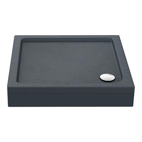 Aurora Slate Effect Stone Square Shower Tray + Riser Kit