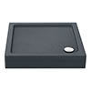 Aurora Slate Effect Stone Square Shower Tray + Riser Kit profile small image view 1