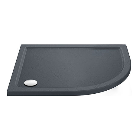 Aurora RH Slate Effect Stone Offset Quadrant Shower Tray
