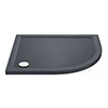 Aurora RH Slate Effect Stone Offset Quadrant Shower Tray profile small image view 1