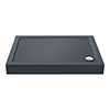 Aurora Slate Effect Stone Rectangular Shower Tray + Riser Kit profile small image view 1