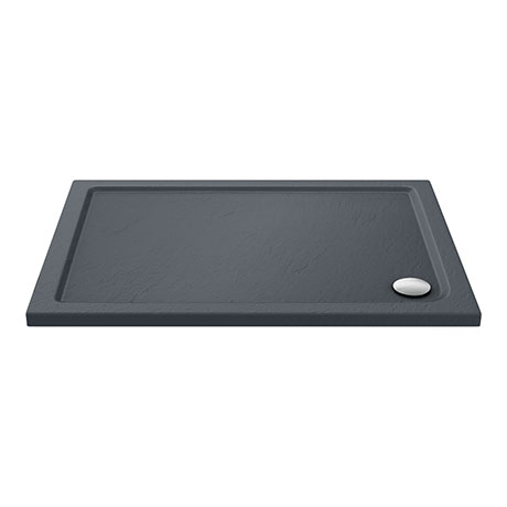 Aurora Slate Effect Stone Rectangular Shower Tray
