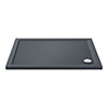 Aurora Slate Effect Stone Rectangular Shower Tray profile small image view 1