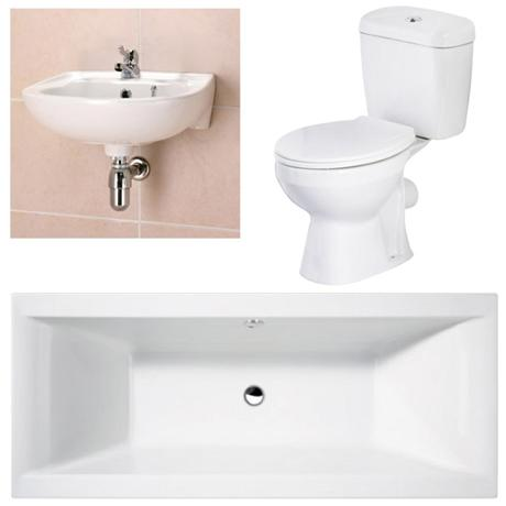 Asselby 3 piece 1th bathroom suite at victorian plumbing uk for Bathroom 3 piece suite