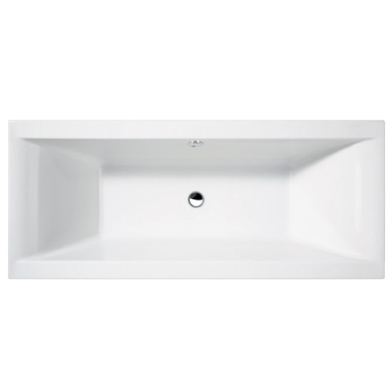 Asselby Square Double Ended Acrylic Bath Large Image