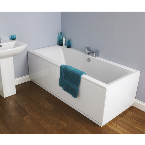 Asselby Square Double Ended Acrylic Bath profile large image view 2