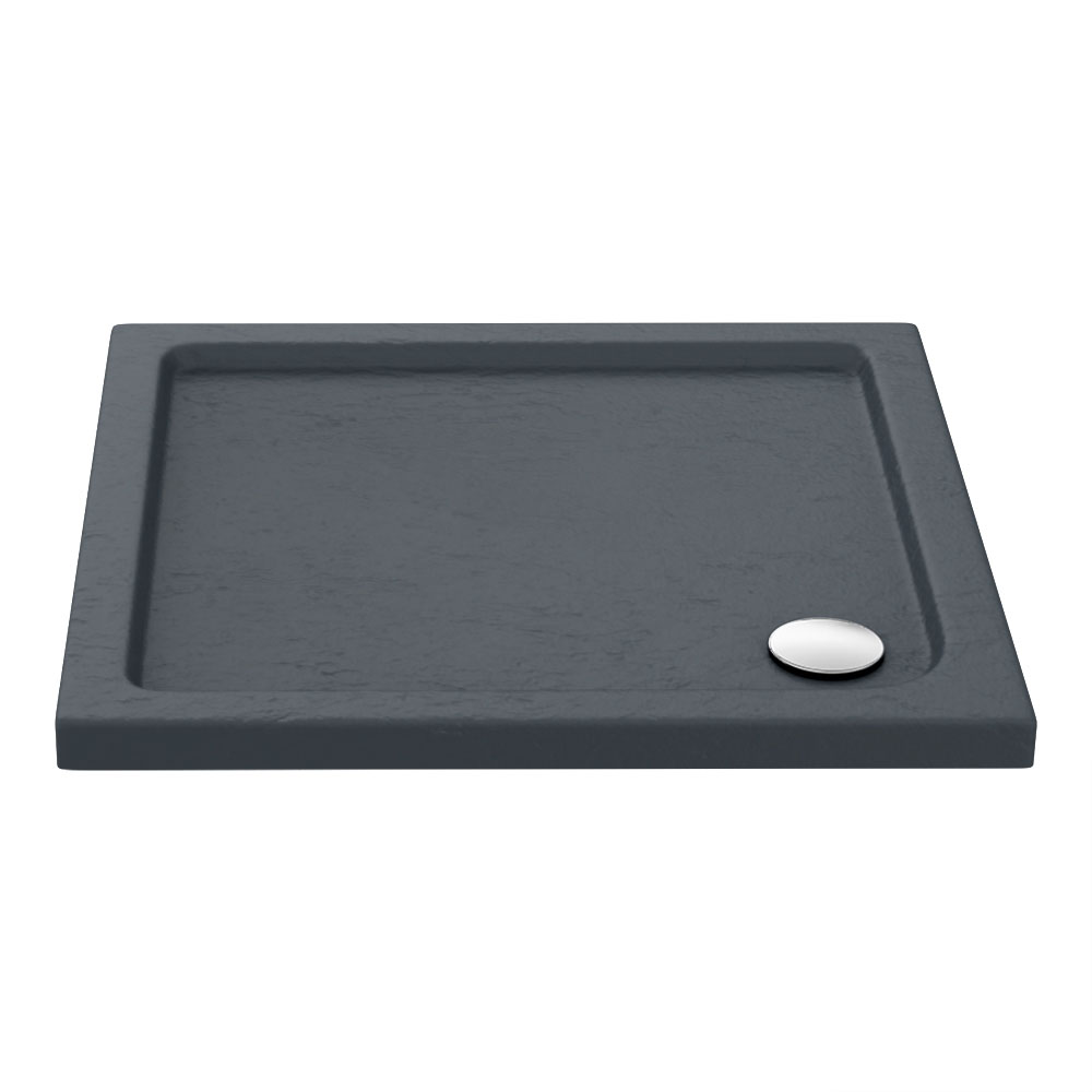 Aurora Slate Effect Stone Square Shower Tray