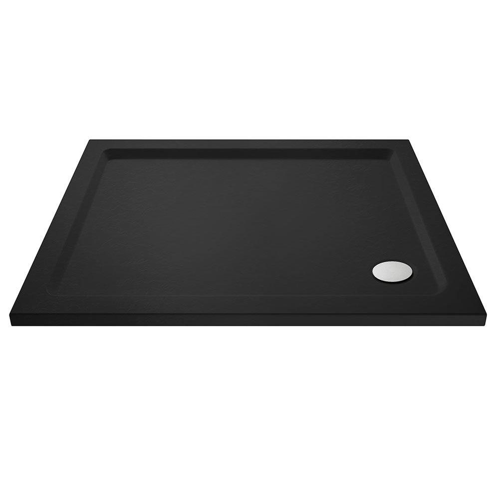 Aurora Black Slate Effect Rectangular Shower Tray - Various Sizes