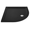 Aurora Black Slate Effect Stone Quadrant Shower Tray - Various Sizes profile small image view 1