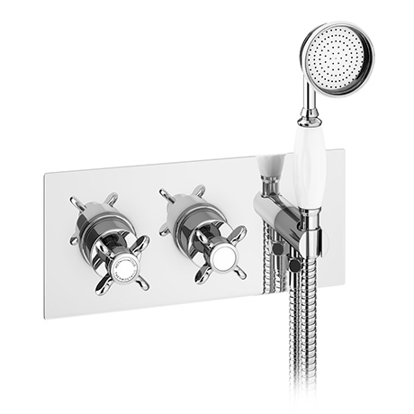 Astoria Traditional Concealed Thermostatic 2-Way Shower Valve with Handset