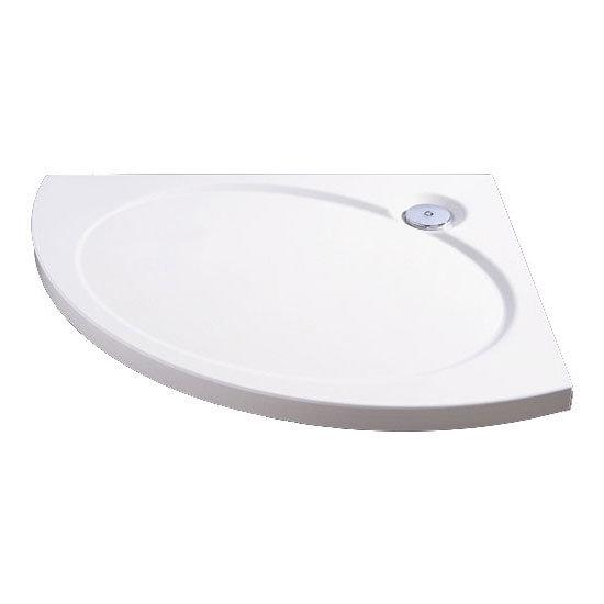 Coram - Designer Slimline Offset Crescent Shower Tray - Left or Right Hand Option Large Image