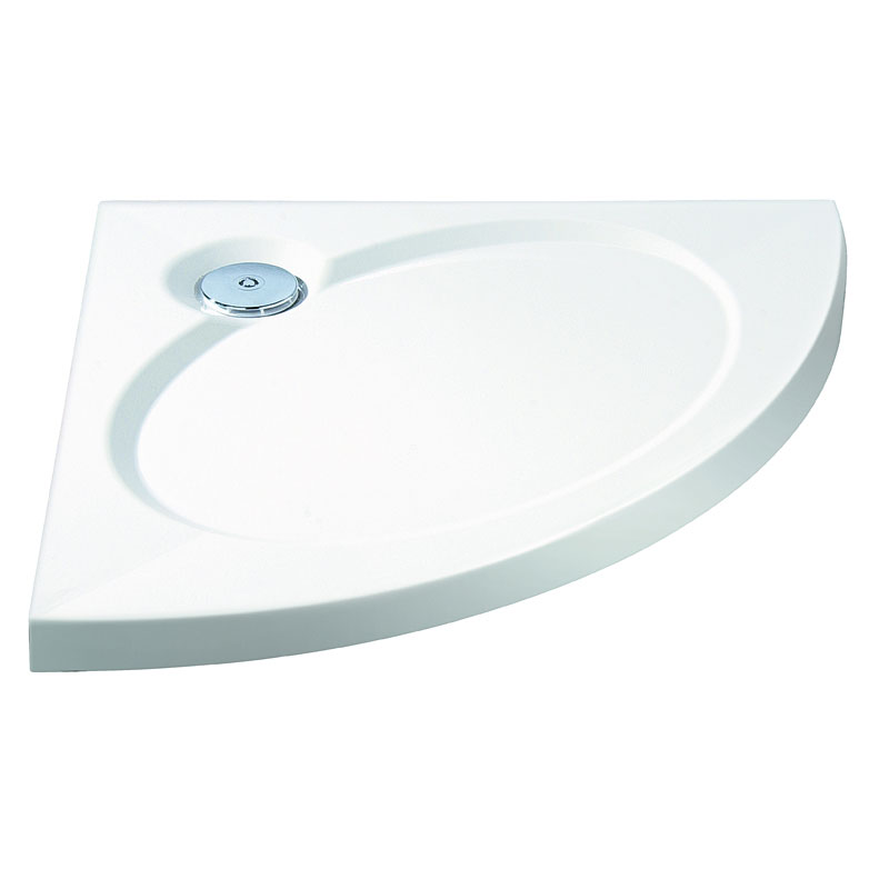 Coram - Designer Slimline Crescent Shower Tray - Various Size Options Large Image